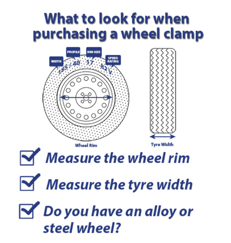 what to look for when purchasing a wheel clamp